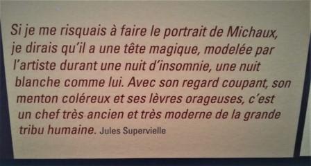 Henri Michaux vu par Jules Supervielle