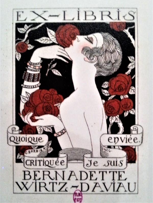 Ex libris de l'exposition Les bibliothèques la nuit, BNF